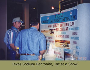 Texas Sodium Bentonite, Inc at a show